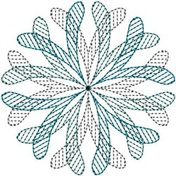 Circle Swirl embroidery design