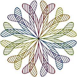 Colorful Swirl embroidery design