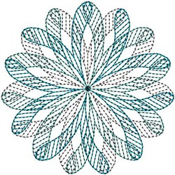 Geometric Spiral embroidery design