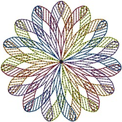 Colorful Spiral embroidery design