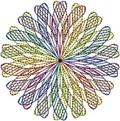 Spiral Circle embroidery design