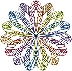 Circle Of Colors embroidery design