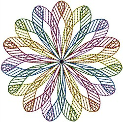 Geometric Circle embroidery design