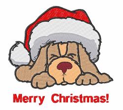 Dog Christmas embroidery design