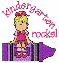 Kindergarten Rocks embroidery design