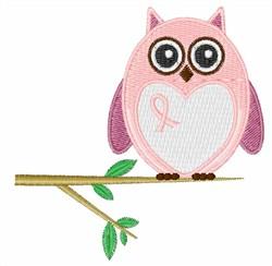 Cancer Awareness Owl embroidery design