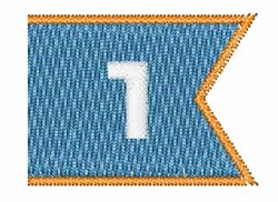 Pennant Font 1 embroidery design