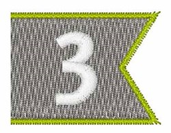 Pennant Font 3 embroidery design