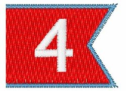 Pennant Font 4 embroidery design