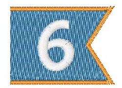 Pennant Font 6 embroidery design