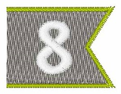Pennant Font 8 embroidery design