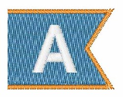 Pennant Font A embroidery design