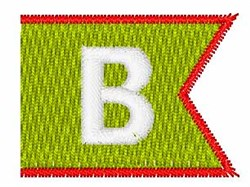 Pennant Font B embroidery design