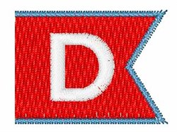 Pennant Font D embroidery design