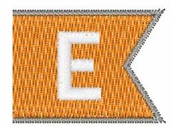 Pennant Font E embroidery design