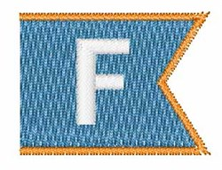 Pennant Font F embroidery design