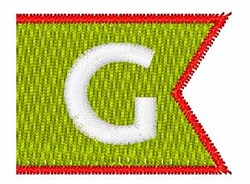 Pennant Font G embroidery design