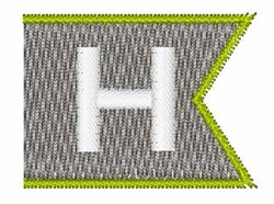 Pennant Font H embroidery design