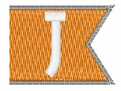 Pennant Font J embroidery design