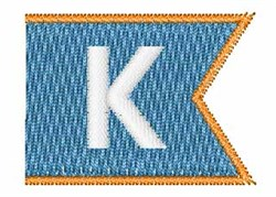 Pennant Font K embroidery design