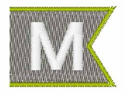 Pennant Font M embroidery design