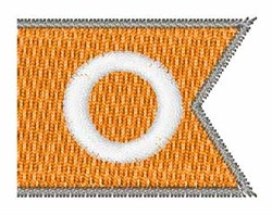 Pennant Font O embroidery design