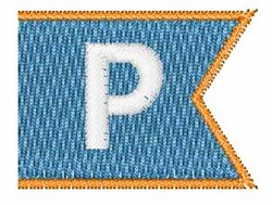 Pennant Font P embroidery design