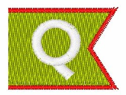 Pennant Font Q embroidery design