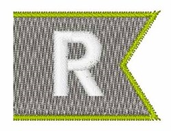 Pennant Font R embroidery design