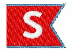 Pennant Font S embroidery design