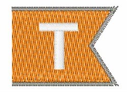 Pennant Font T embroidery design