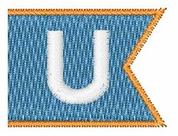 Pennant Font U embroidery design