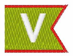 Pennant Font V embroidery design