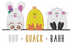 Hop Quack Bahh embroidery design