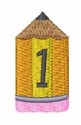 Pencil Font 1 embroidery design