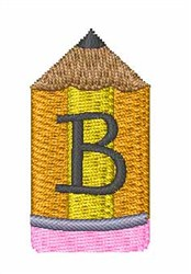 Pencil Font B embroidery design