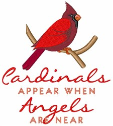 Cardinals Appear embroidery design