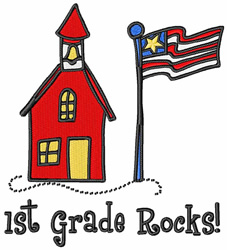 1st Grade Rocks embroidery design