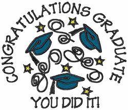 Congratulations Graduate embroidery design