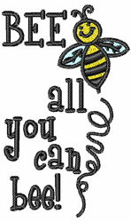 All You Can Bee embroidery design