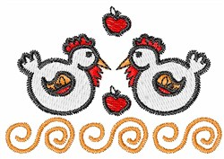 Hens & Apples embroidery design