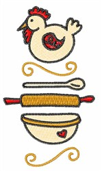 Cooking embroidery design