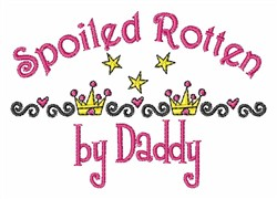 Spoiled Rotten embroidery design