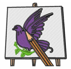 Bird Painting embroidery design