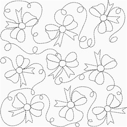 Bow Quilting Square embroidery design