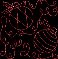 Quilting Christmas Square embroidery design
