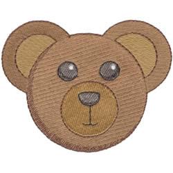 Teddy Bear Face embroidery design