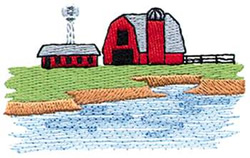 Farm Barn embroidery design