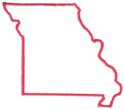 Missouri Outline embroidery design