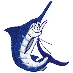 Blue Marlin embroidery design